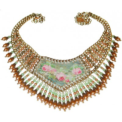 Michal Negrin Beaded Victorian Necklace