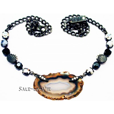 Amaro Natural Agate Crystals Necklace