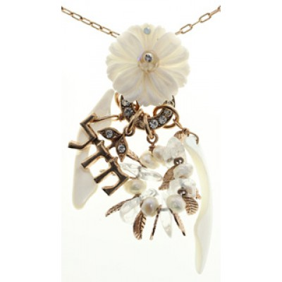 Amaro White Flower Luck Necklace