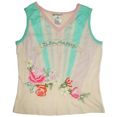 Blumarine Floral Embellished Top
