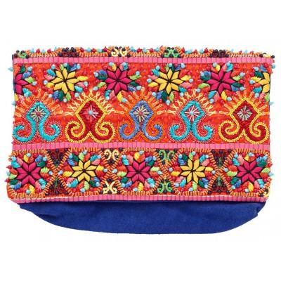 Camilla Franks Colour Me Baby Embellished Suede Clutch Bag