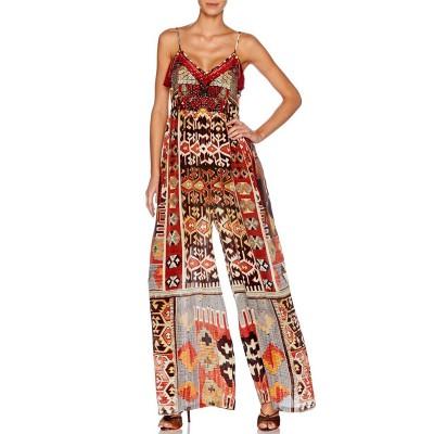 Camilla Franks Pilgrim Weaving Silk Jumpsuit