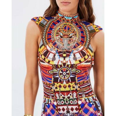 Camilla Franks Rainbow Warrior Cap Sleeve Collar Dress
