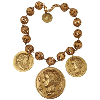 Dolce & Gabbana gold tone coins necklace