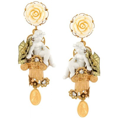 Dolce & Gabbana Baroque Cherub Clip On Earrings