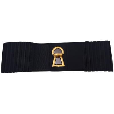 Dolce & Gabbana Black Leather Lock Belt