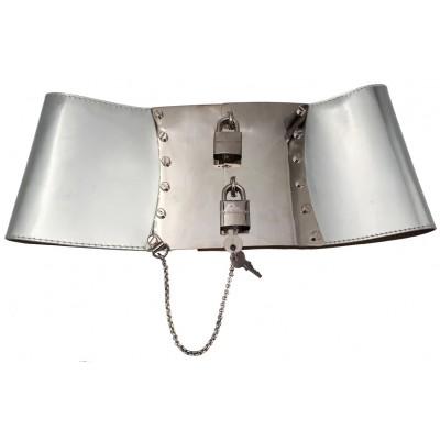 Dolce & Gabbana Silver Lock Belt