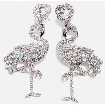 Diamante Flamingo Earrings