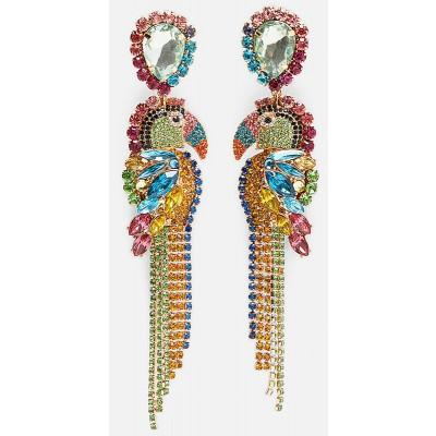 Multicolor Toucan Earrings
