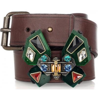 Lanvin Leather Butterfly Belt