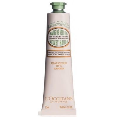 L'Occitane Almond Velvet Hands SPF15 sunscreen hand cream 75ml / 2.6oz