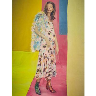 Romance Was Born Eyeconic Print Dress