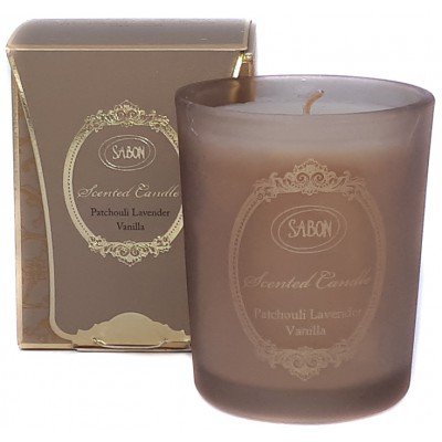 Sabon Patchouli Lavender Vanilla Candle in Glass 60 gram