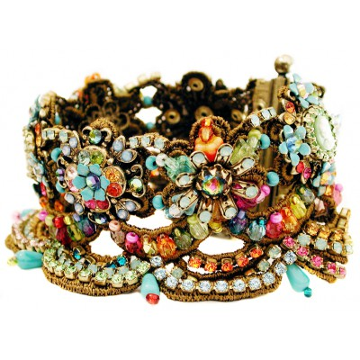 Michal Negrin Multicolor Victorian Lace Bracelet
