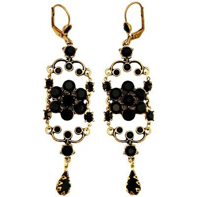 Michal Negrin Black Iconic Chandelier Earrings