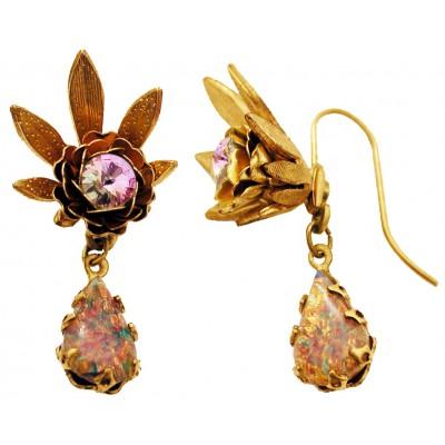 Michal Negrin Purple Marble Halo Earrings