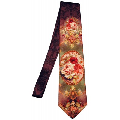 Michal Negrin Victorian Roses Tie