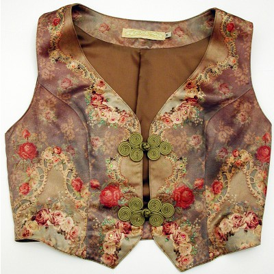Michal Negrin Victorian Roses Vest Top