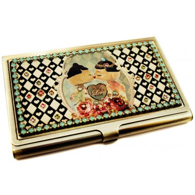 Michal Negrin Dolls Kiss Cards Case