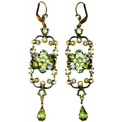Michal Negrin Green Iconic Chandelier Earrings
