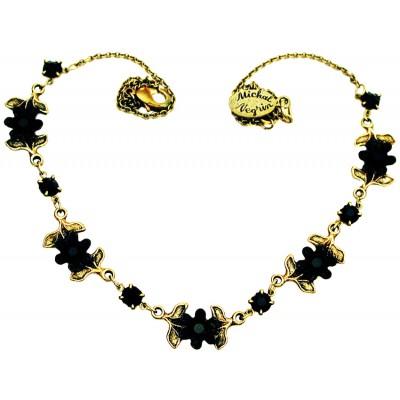 Michal Negrin Black Flowers Necklace