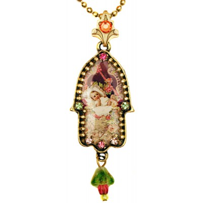 Michal Negrin Baby Girl Hamsa Necklace