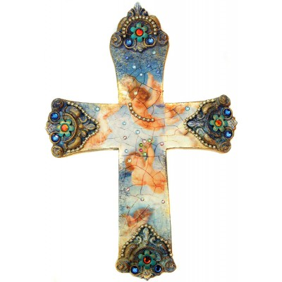 Michal Negrin Antique Angels Wall Decor Large Cross