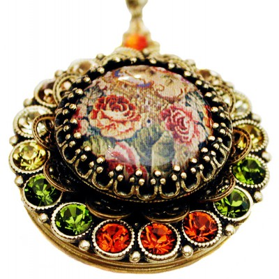 Michal Negrin Autumn Roses Locket Necklace