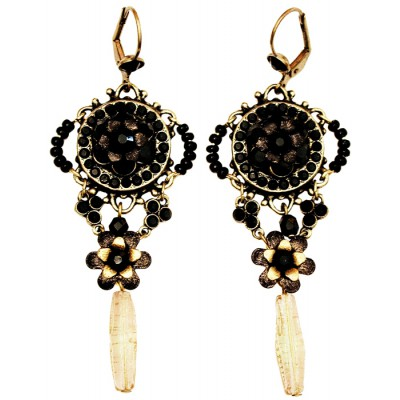 Michal Negrin Black Sundown Earrings