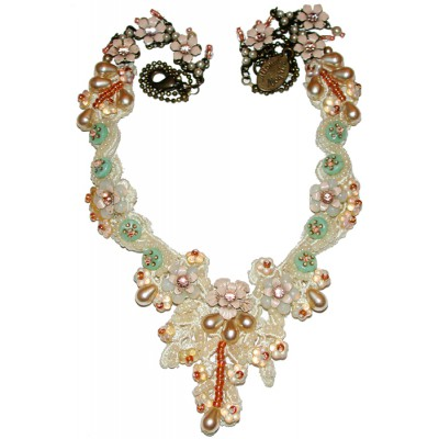 Michal Negrin Vintage Lace Necklace