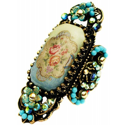 Michal Negrin Turquoise Victorian Cameo Ring