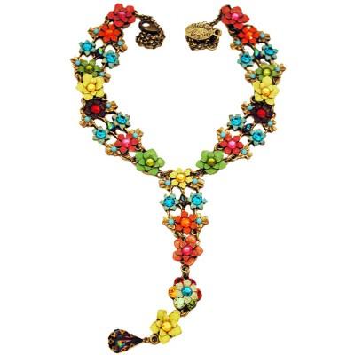 Michal Negrin Multicolor Drop Tie Necklace