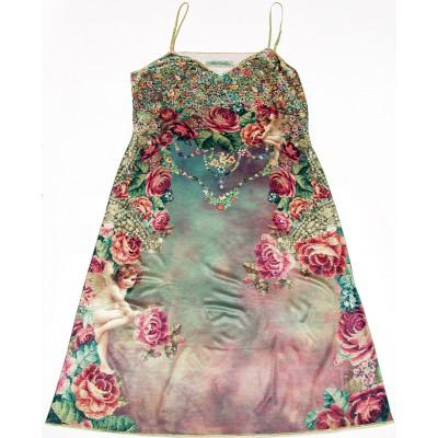Michal Negrin Victorian Cherub Roses Dress