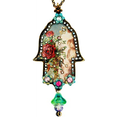 Michal Negrin Victorian Large Hamsa Necklace