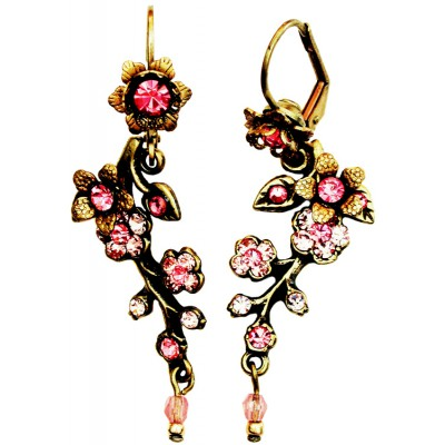 Michal Negrin Pink Cherry Blossom Earrings