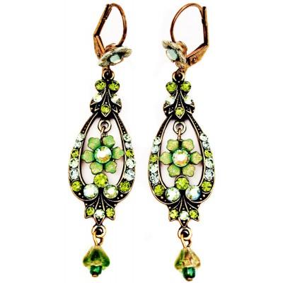 Michal Negrin Green Spade Earrings