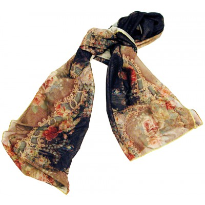 Michal Negrin Victorian Roses Shawl Scarf