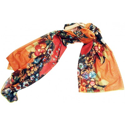 Michal Negrin Sunset Roses Shawl Scarf