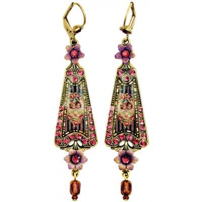 Michal Negrin Purple Cherubs Triangle Earrings
