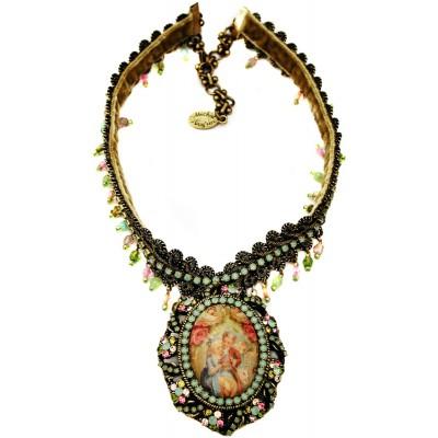 Michal Negrin Baroque Love Cameo Necklace