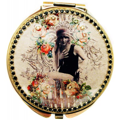 Michal Negrin Flapper Girl Compact Mirror