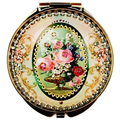 Michal Negrin Victorian Roses Compact Mirror