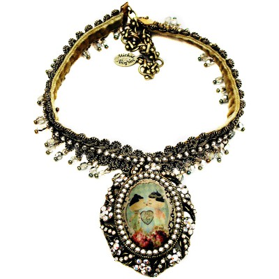 Michal Negrin Dolls Kiss Cameo Necklace