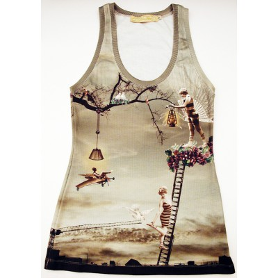 Michal Negrin Retro Collage Tank Top