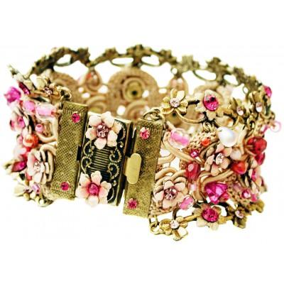 Michal Negrin Pink Fuchsia Crochet Bracelet