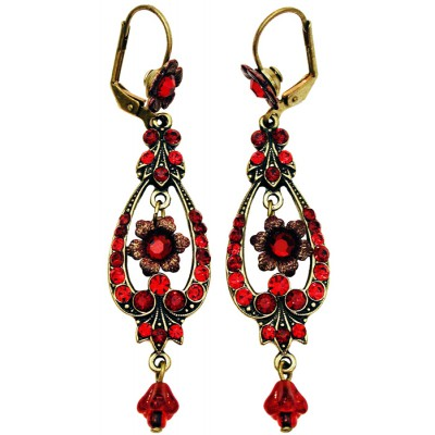 Michal Negrin Red Spade Earrings