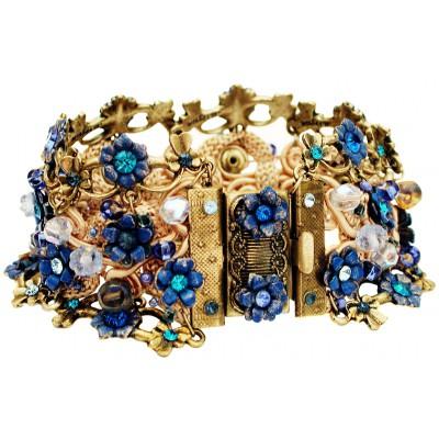 Michal Negrin Blue Crochet Bracelet
