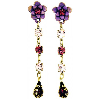 Michal Negrin Purple Lilac Post Earrings