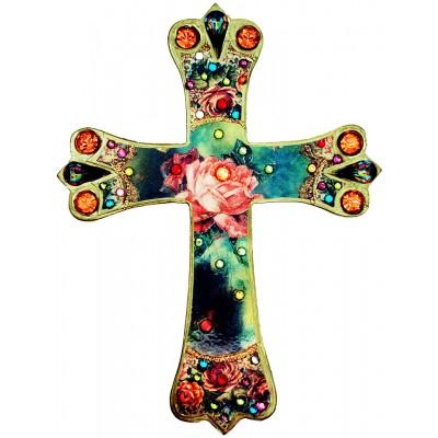 Michal Negrin Antique Rose Wall Decor Cross