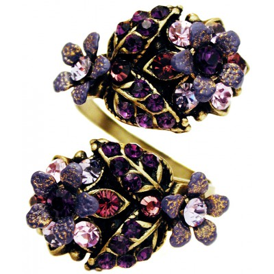 Michal Negrin Purple Snake Ring